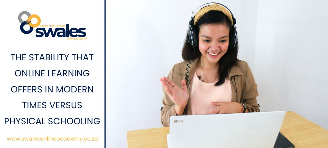 Girl participating in online learning class